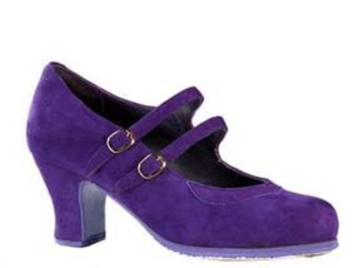 "These flamenco shoes from Flamencista are almost identical to my first ""real"" pair - I loved the colour!"