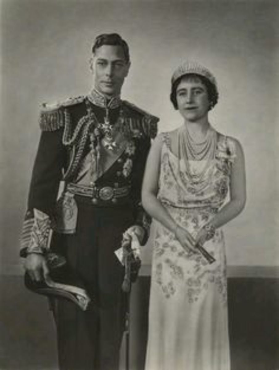 King George VI and the Queen Mother. Albert ascended to the throne after his brothers abdication