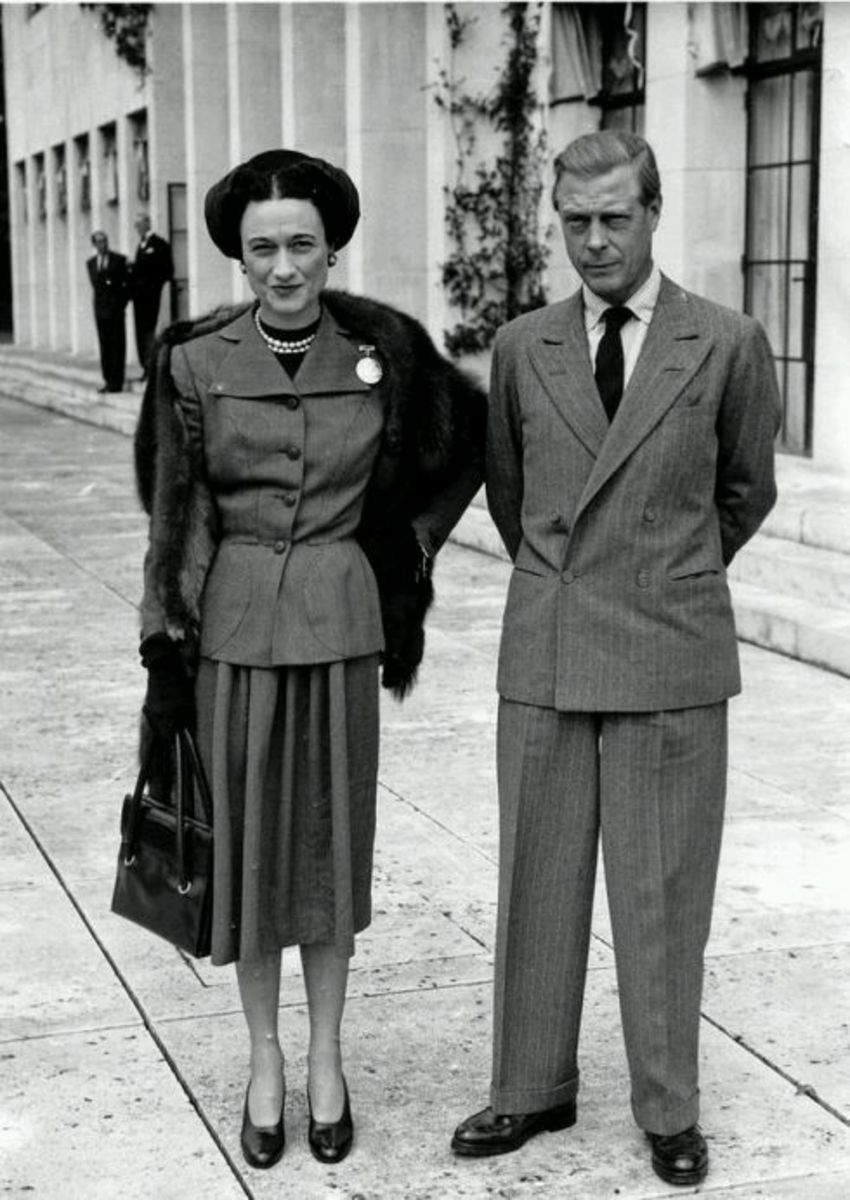 King Edward VIII and Aspergers Syndrome or Wallis Simpson and Narcissistic Personality Disorder