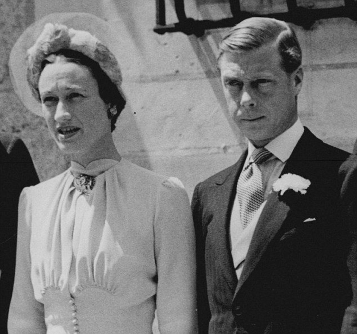 The Duke and Duchess of Windsor married in France in 1936