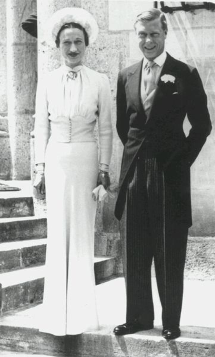 Edward and Wallis's wedding day in France shortly after his abdication.
