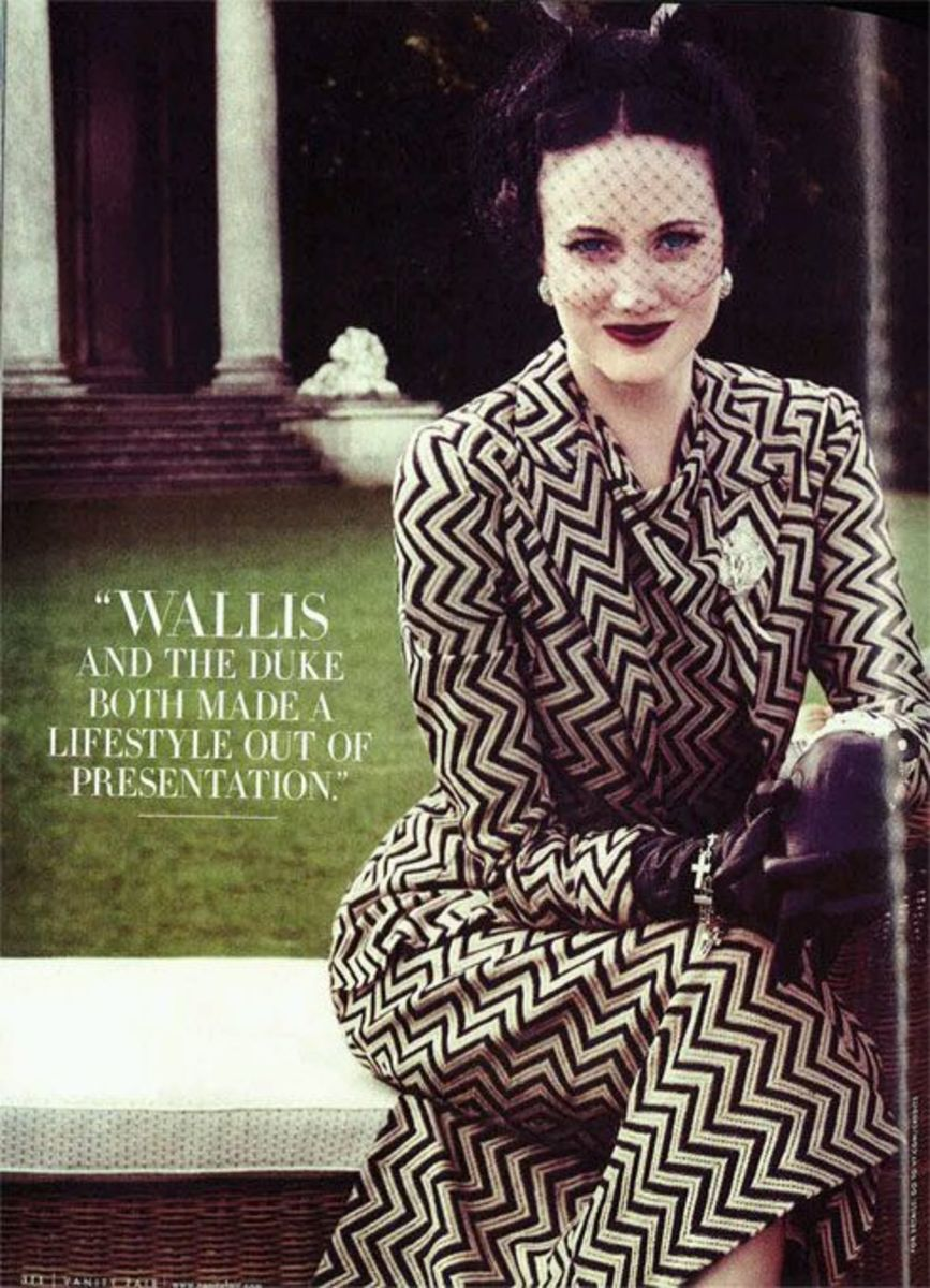 Wallis Simpson loved to put on a good show, a Narcissistic trait?