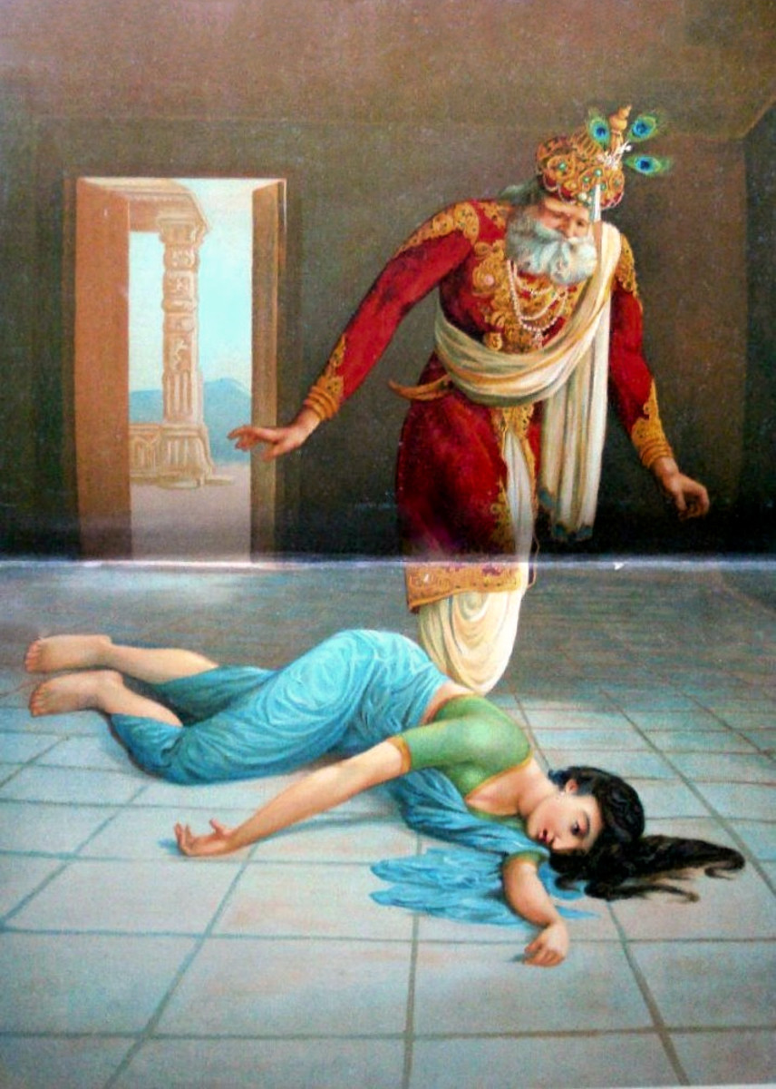 Dasharatha finding his second wife