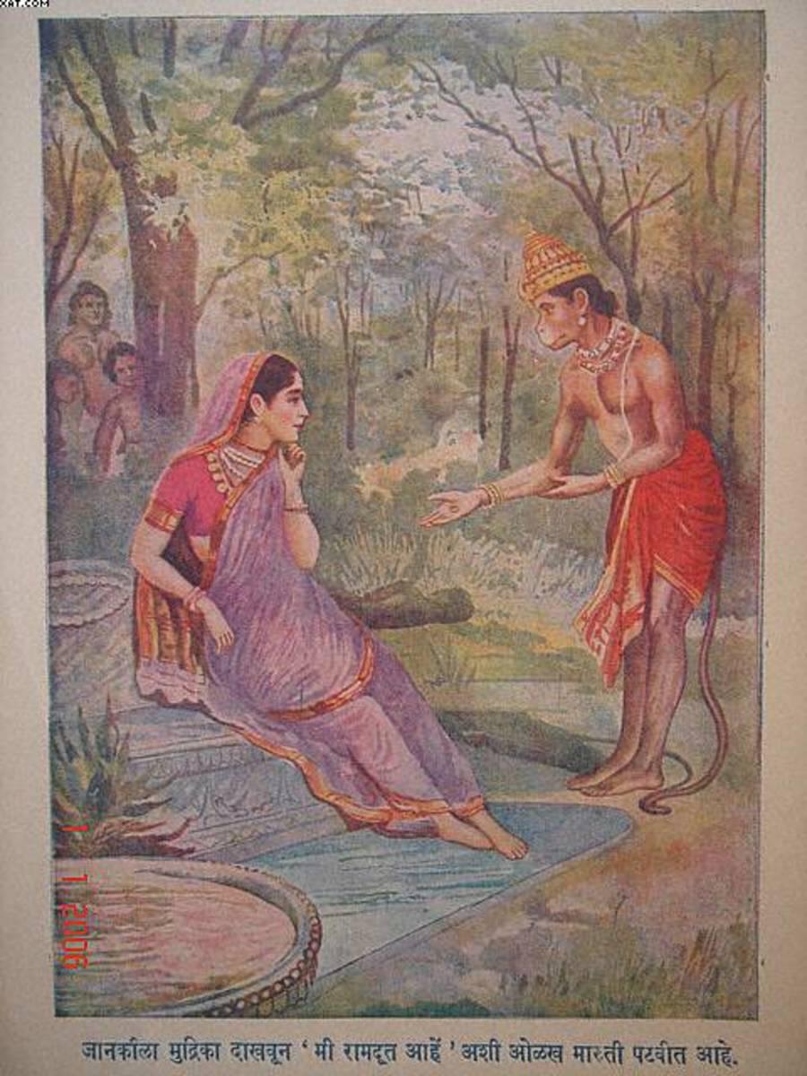 Hanuman finds Sita