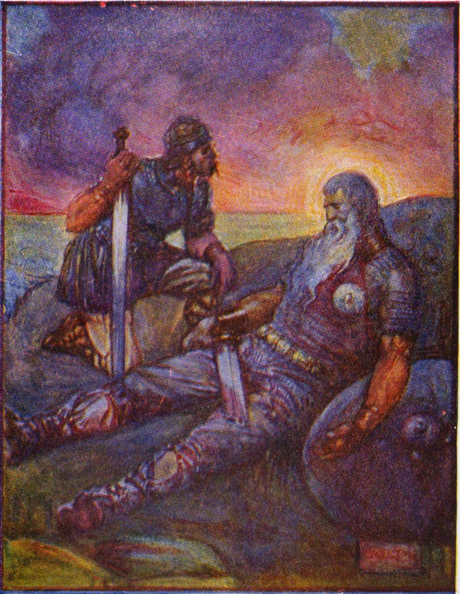 Wiglaf and Beowulf