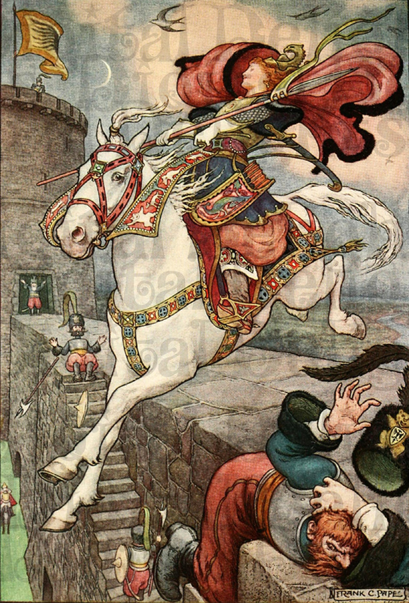 "Ilustration from ""The Flying Horse."""