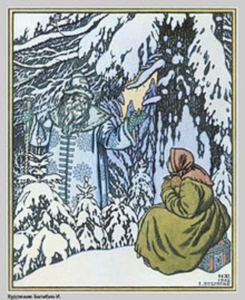 "Illustration from ""Father Frost."""