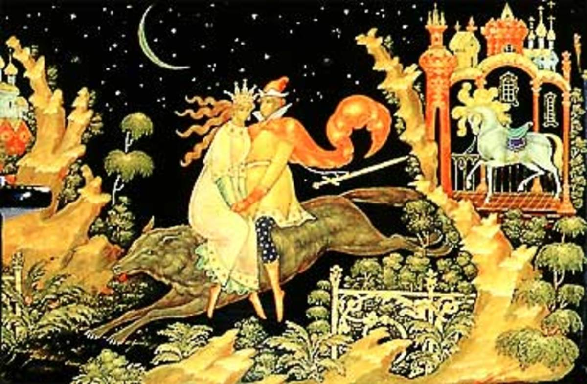 Illustration from Russian Fairy Tales.