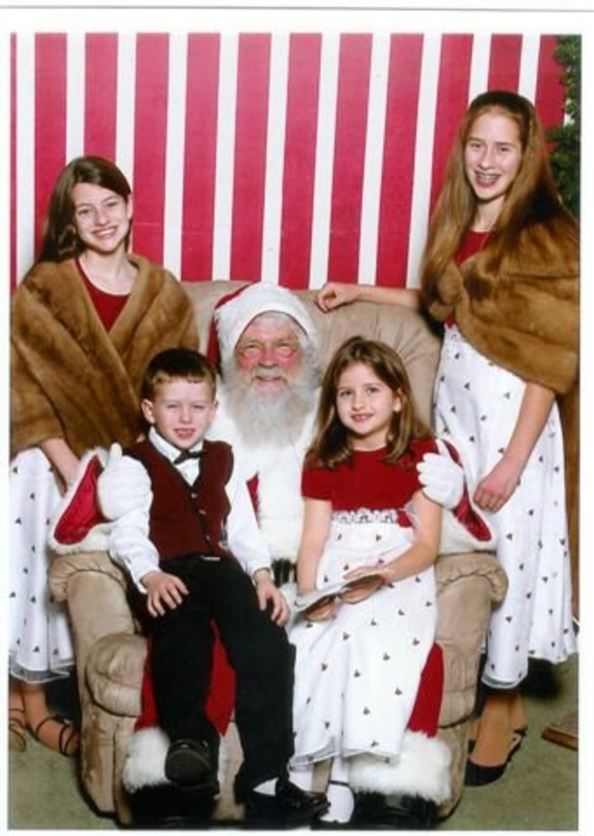 If you want a really beautiful and fashionable Christmas Photo. I cannot think of a better place to really dress up in you vintage Minks, and make a Holiday statement then when young ladies go to see Santa.