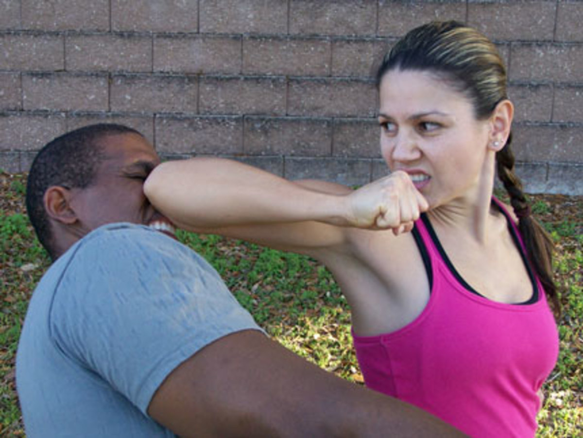 Jab Elbow to Nose!