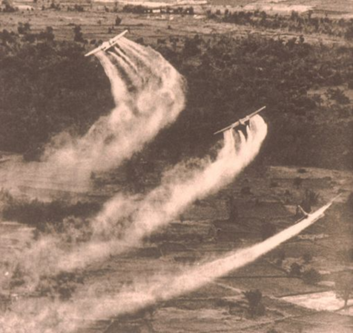 Spraying Agent Orange in Vietnam