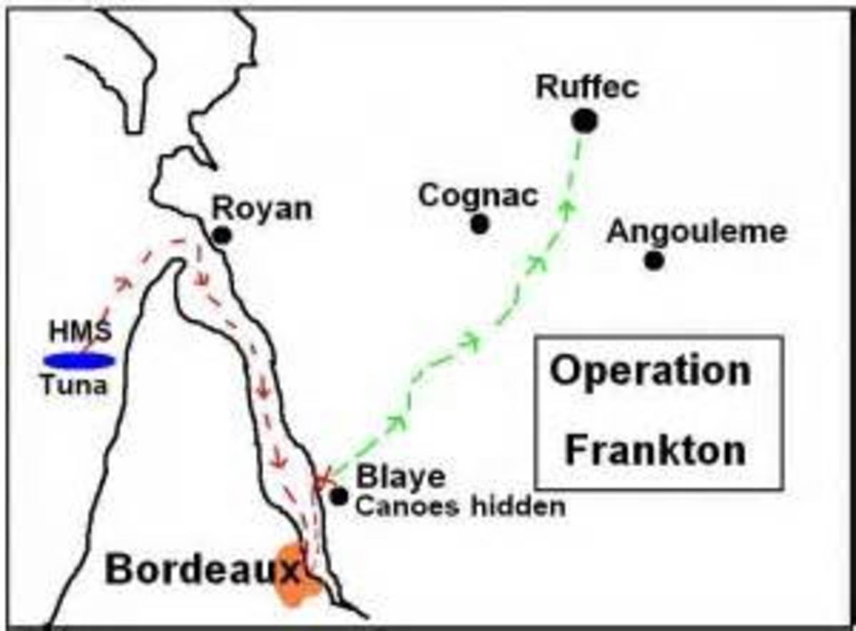 Plan of the operation and escape route