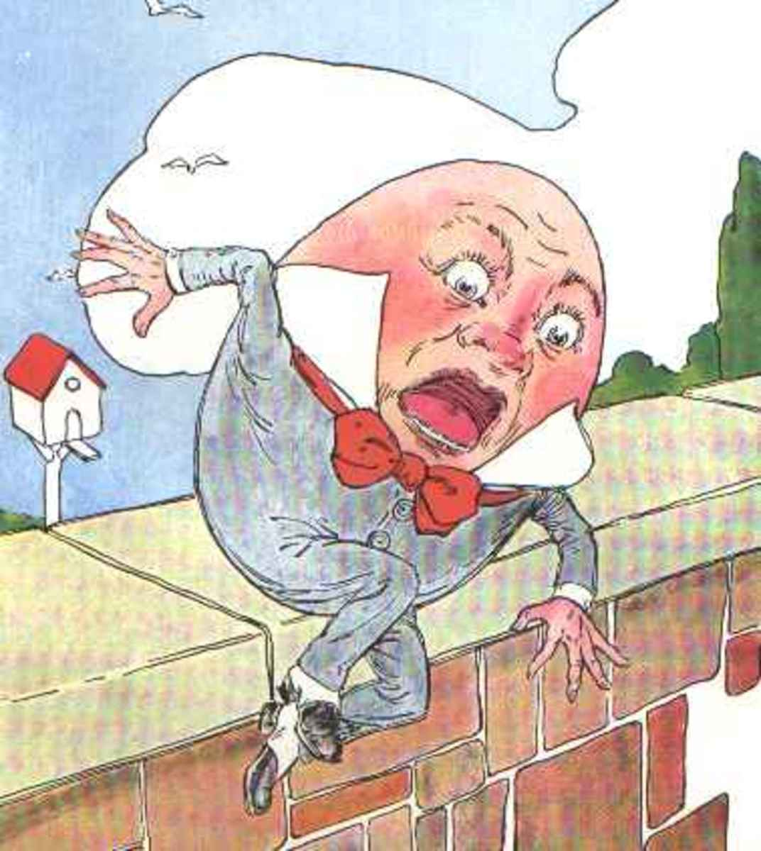 """""""Humpty Dumpty,"""" probably one of our most favorite and well known of the nursery rhymes read to us as children."""