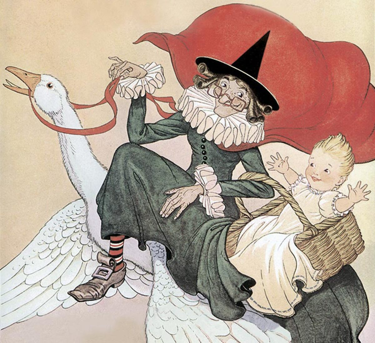 Early illustration of Mother Goose.