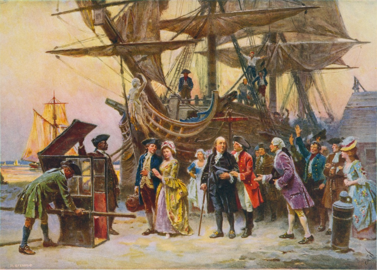 Franklin's return to Philadelphia 1785