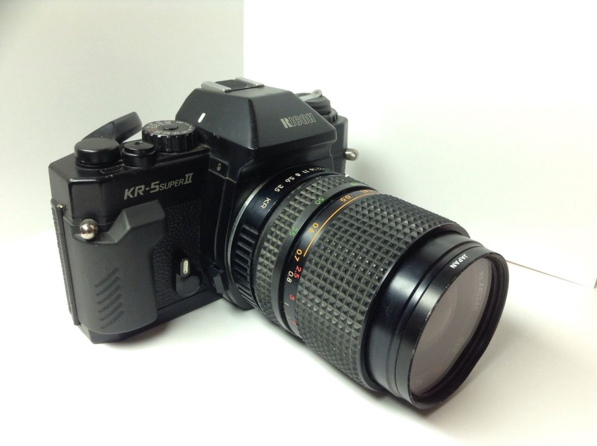 Ricoh KR-5 SUPER II film camera is intended for those who desire full manual operation to experience pure SLR photography.
