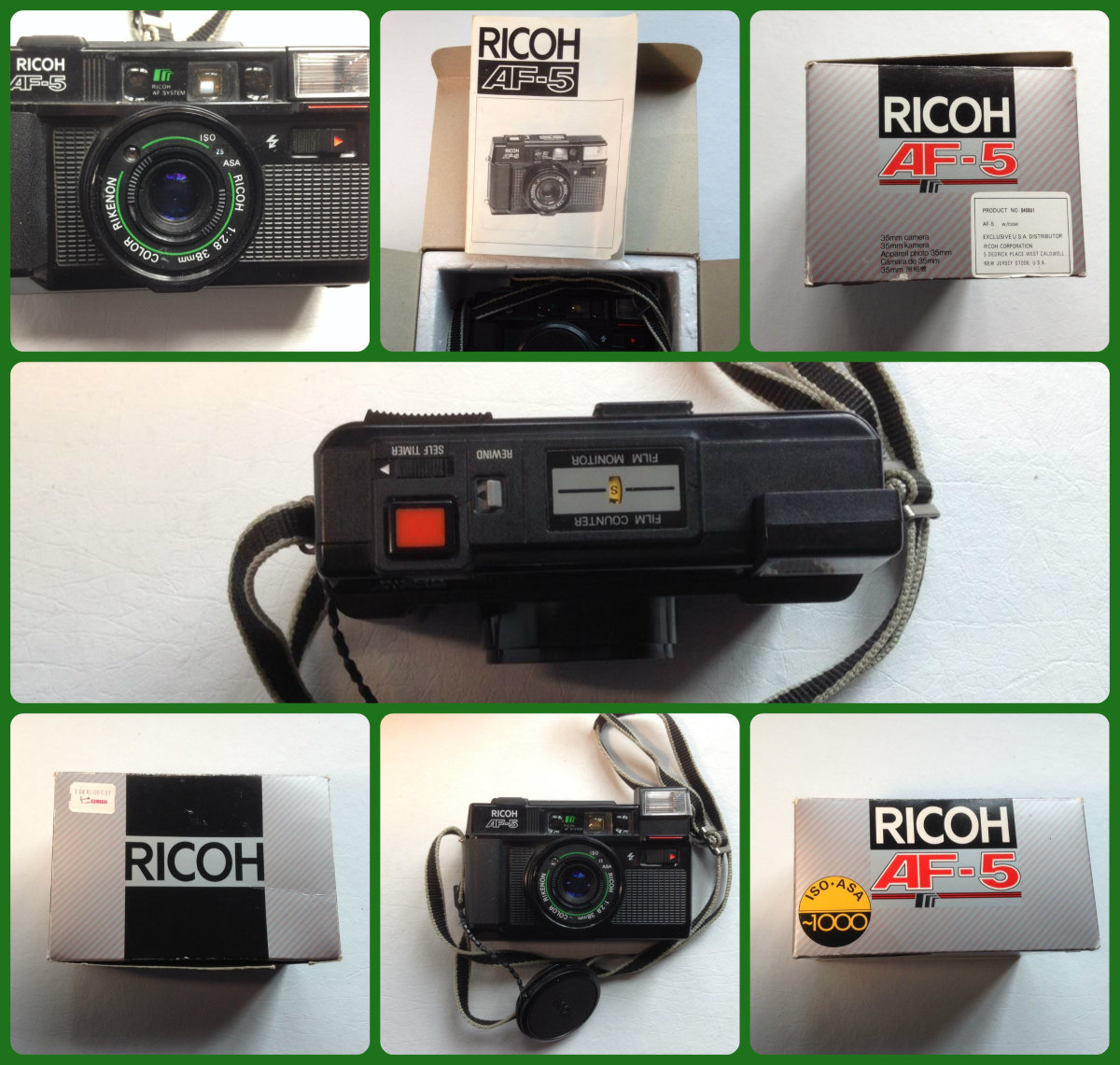 Made in the early 1980s the Ricoh AF-5, it was a sophisticated well-made point and shoot auto-focus compact camera for 35mm film with an integral flash and auto-focus, and was manufactured exclusively by the Ricoh Camera Company.