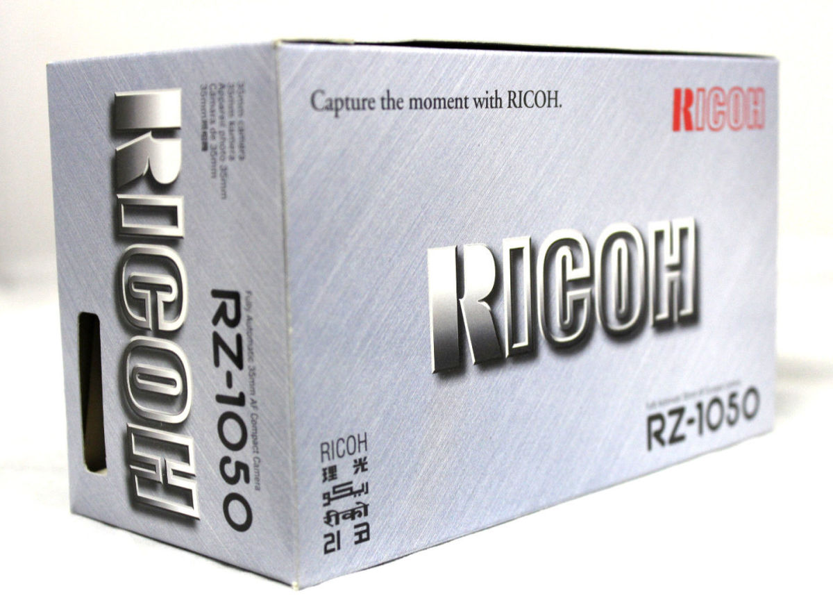The last of the point and shoot Ricoh cameras was the Ricoh RZ -1050 automatic 35MM AF camera which was fully automatic 35MM AF compact model