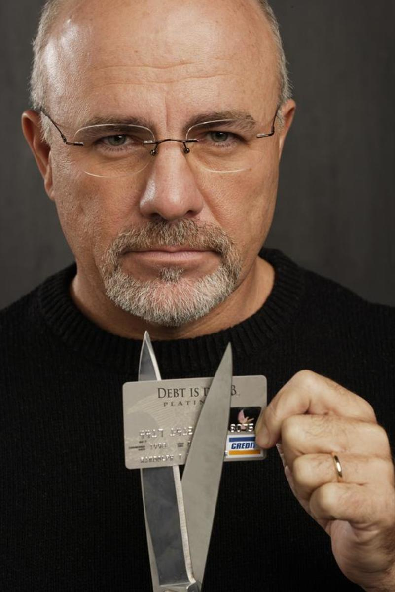 Dave's best advice: Get out of debt, cut up all your credit cards.