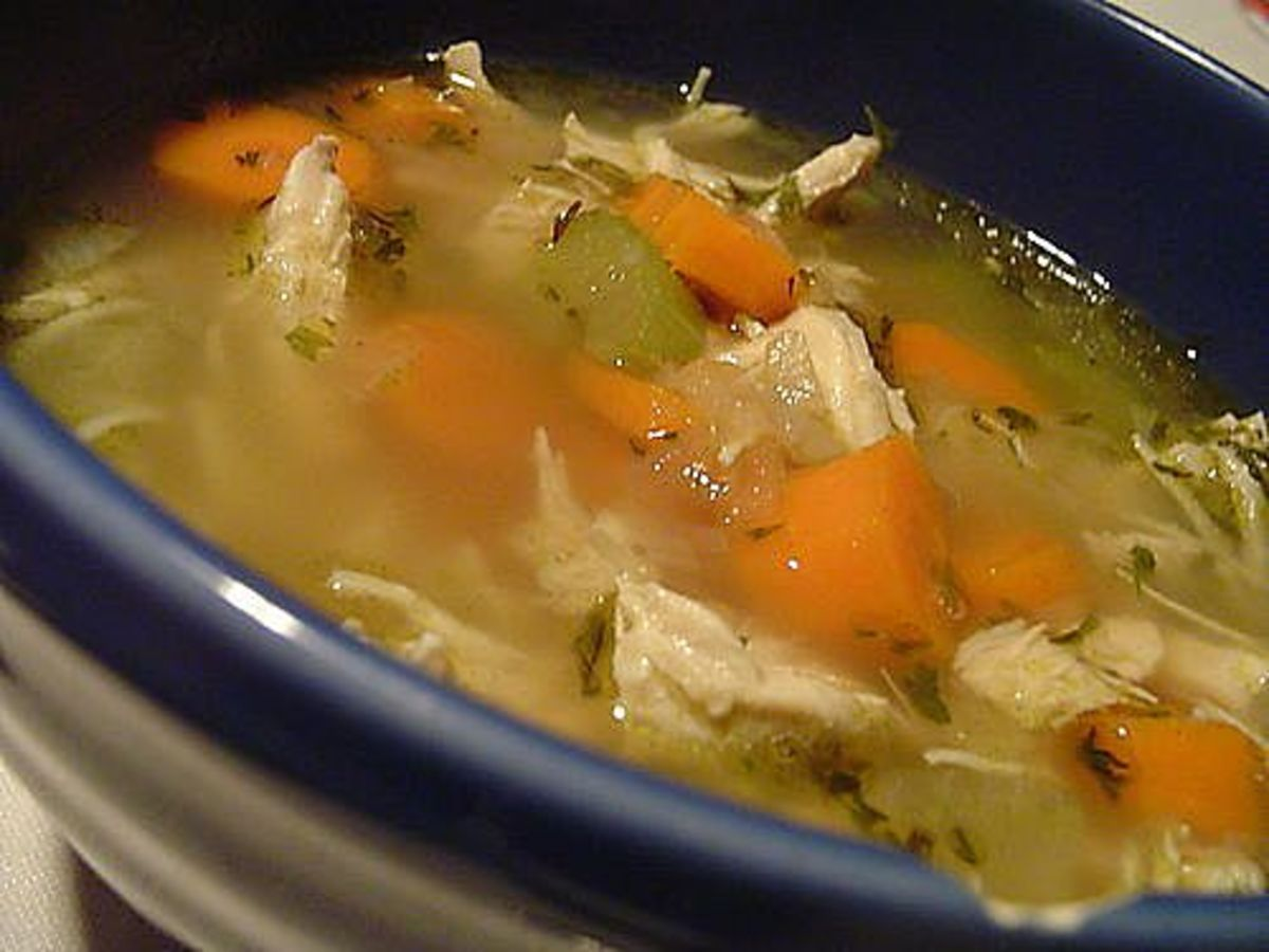 Old Fashion Chicken Noodle Soup for Two