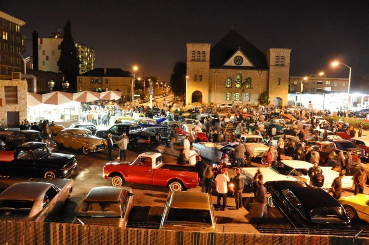 First Friday:low rider show at Giant Burgers