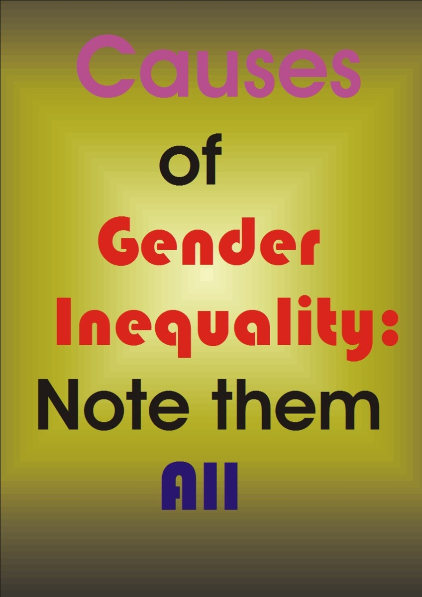 Many causes of gender inequality including religion, culture, poor gender empowerment and others.