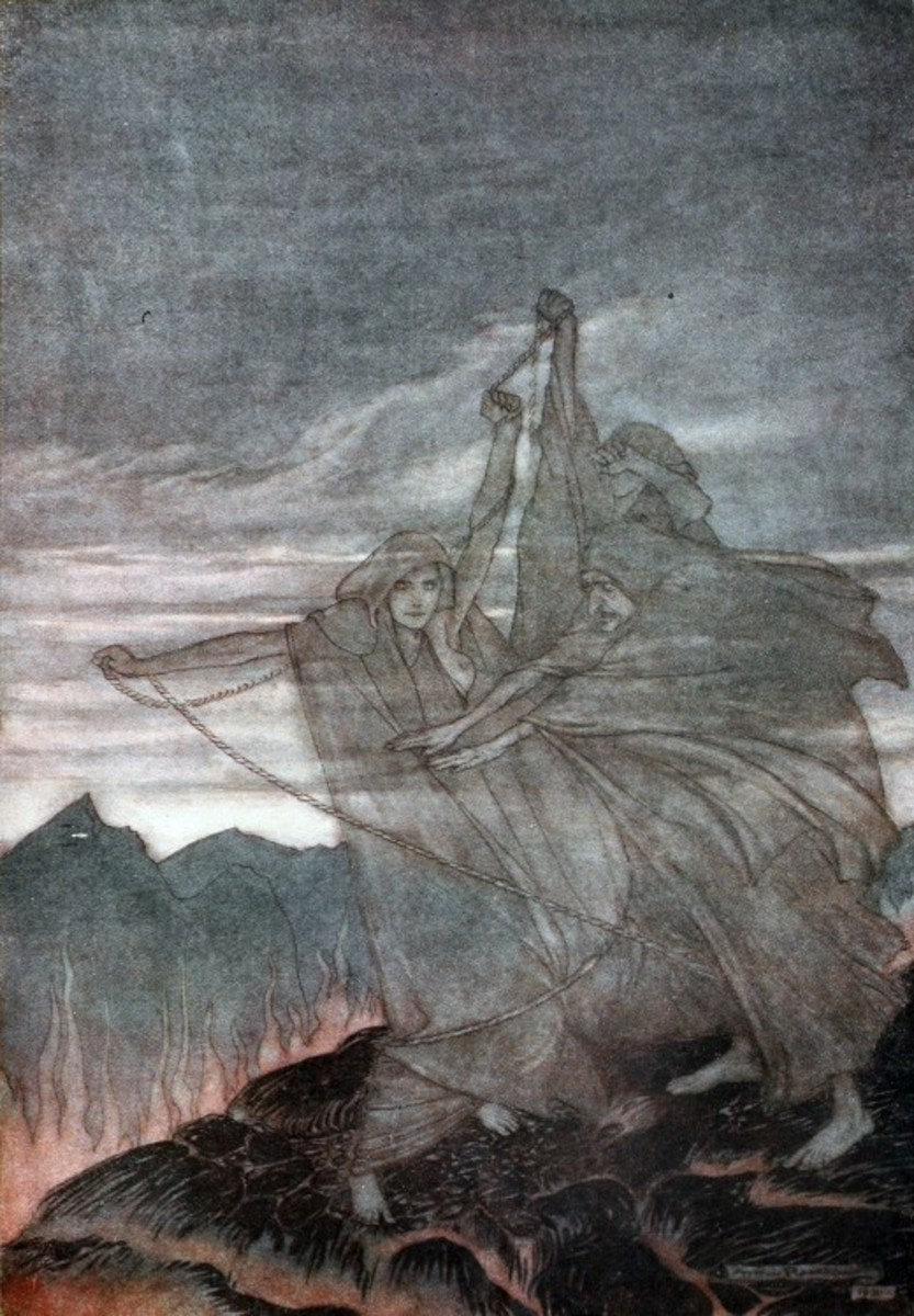 The Norns, from Siegfried and the Twilight of the Gods. Arthur Rackham