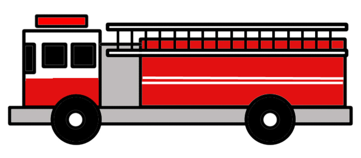 How to draw a fire engine with shapes.