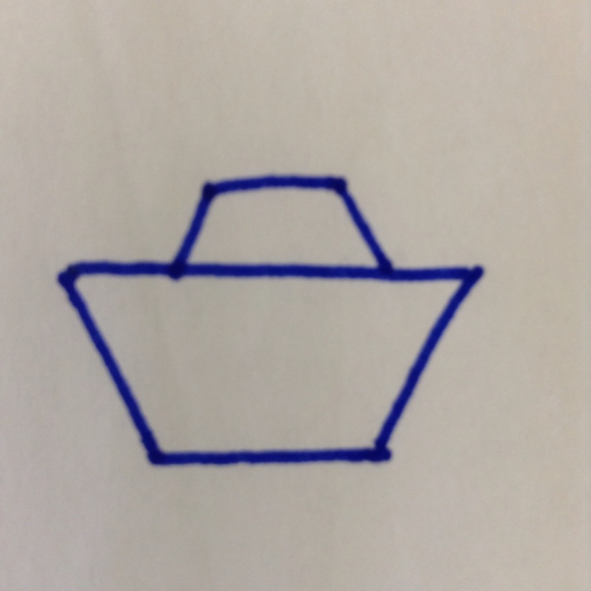Step 2. Draw a smaller trapezoid on top.