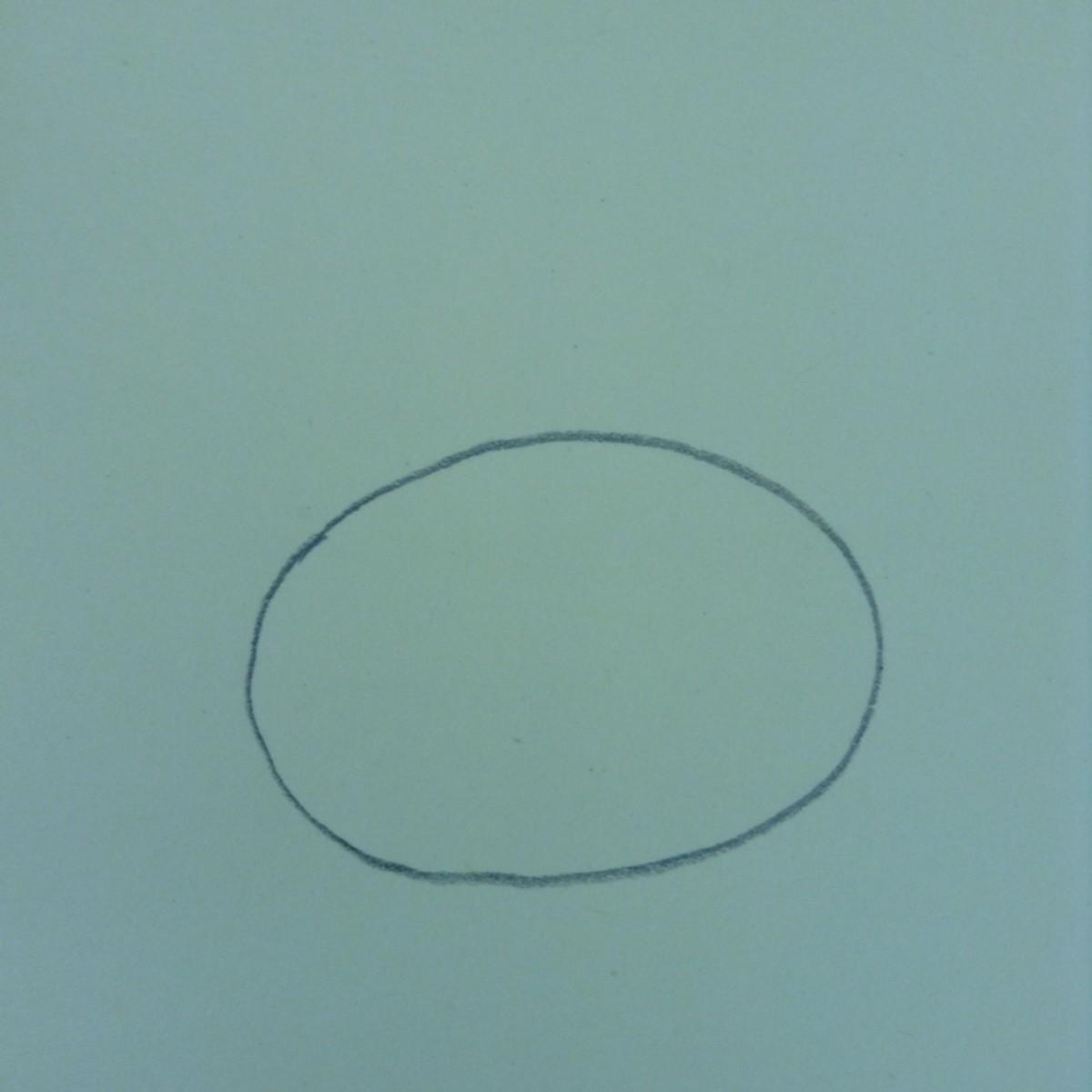 Step 1. Draw an oval.