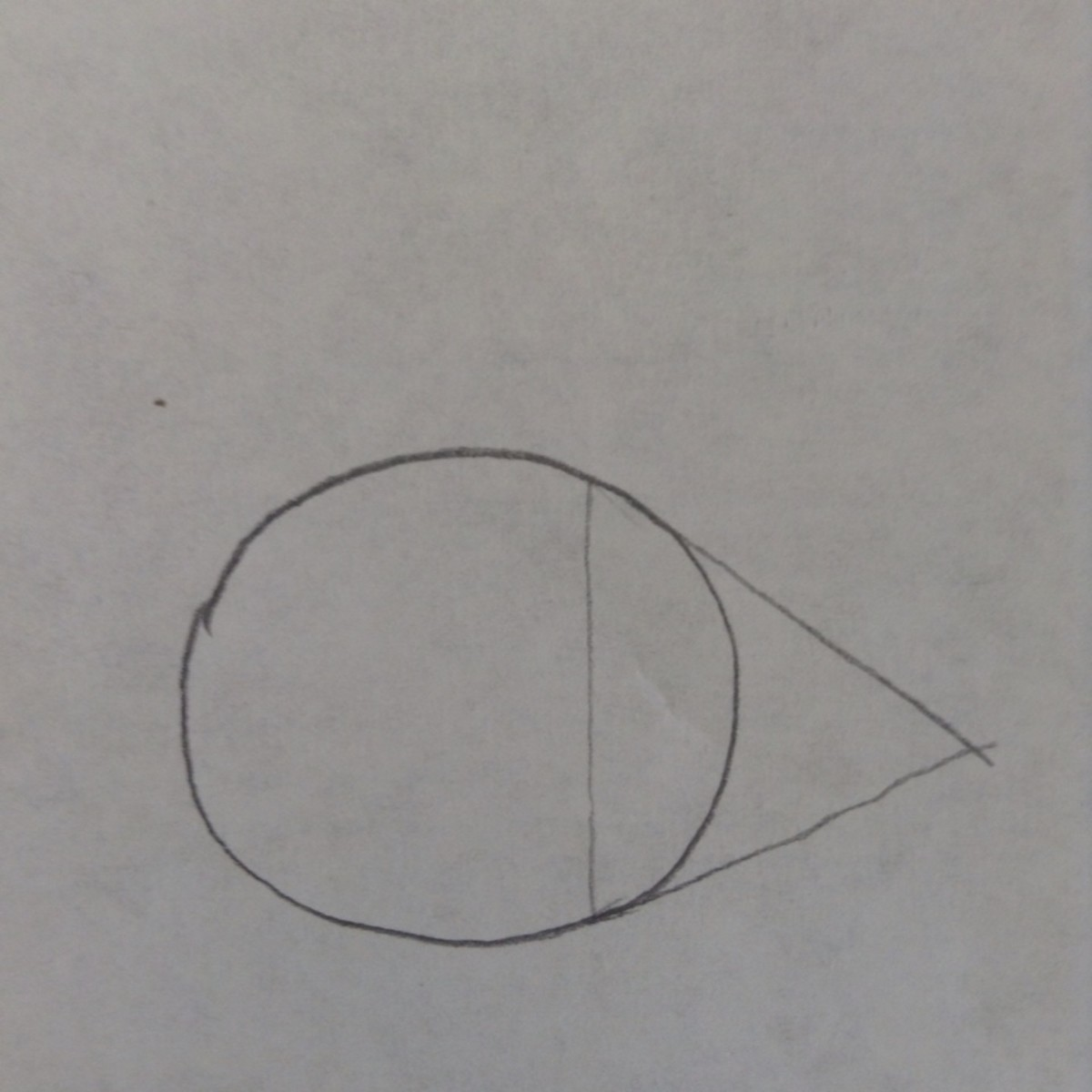 Step 2. Draw an overlapping triangle or acute angle.
