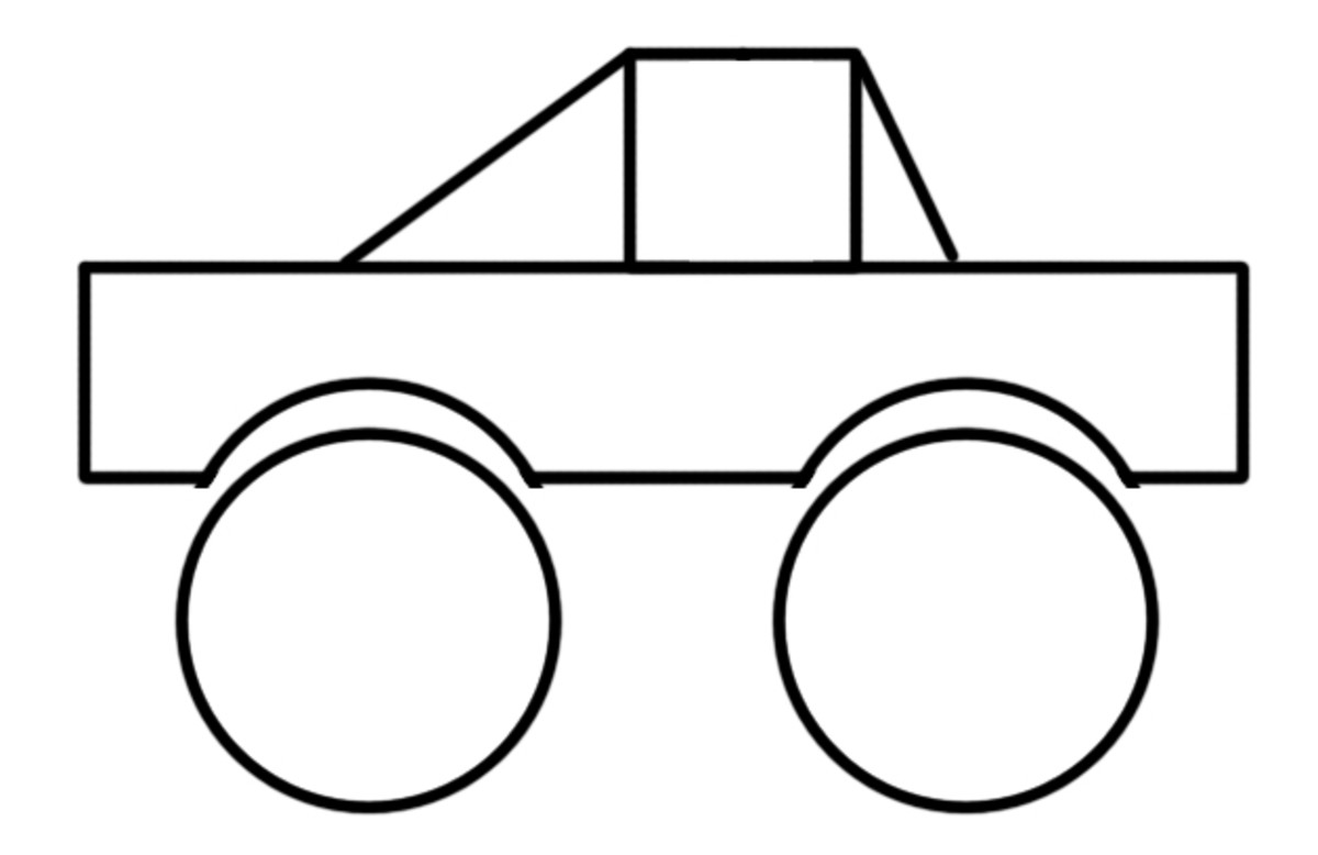How To Teach Kids To Draw Using Shapes on pickup truck drawings
