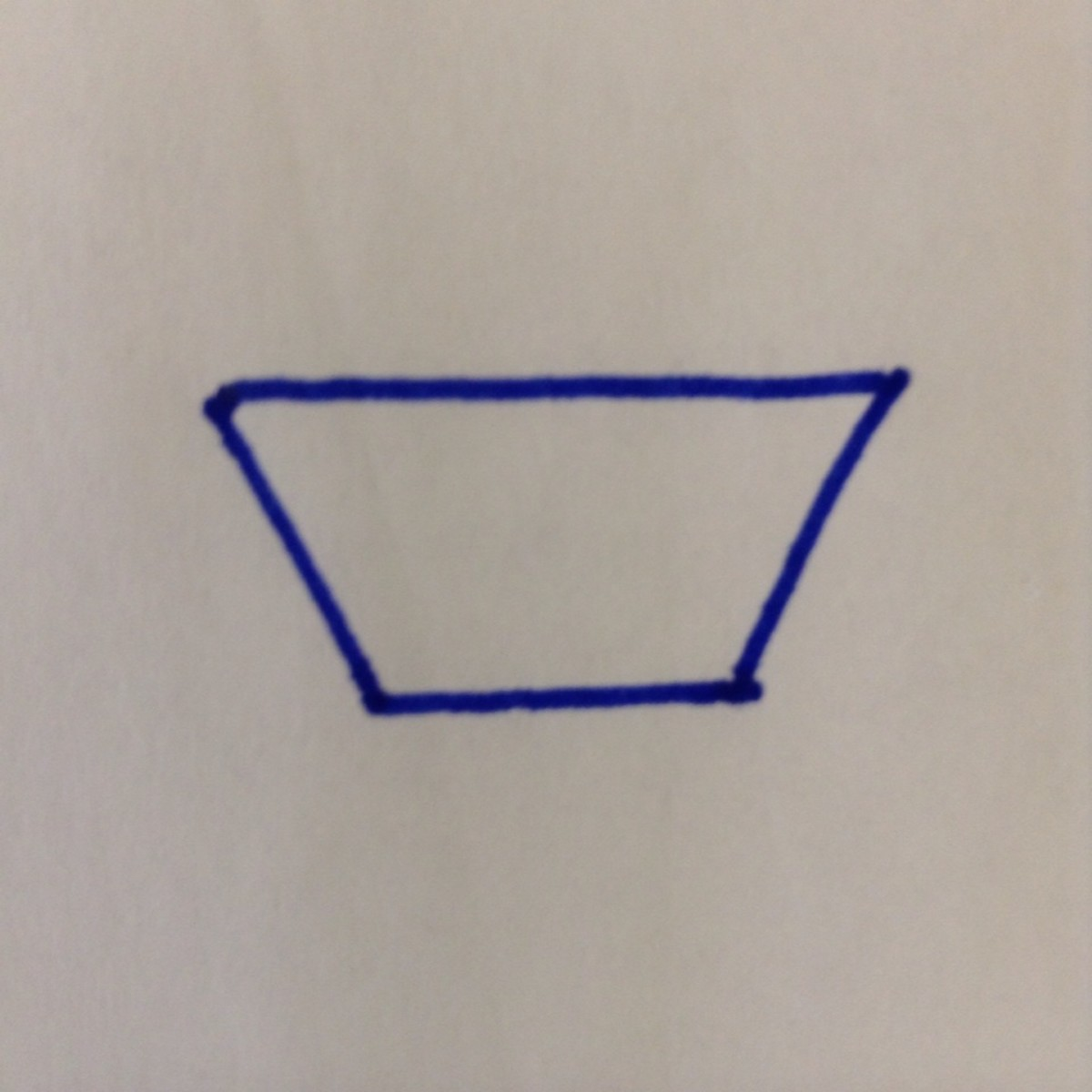 Step 1. Start with a trapezoid.