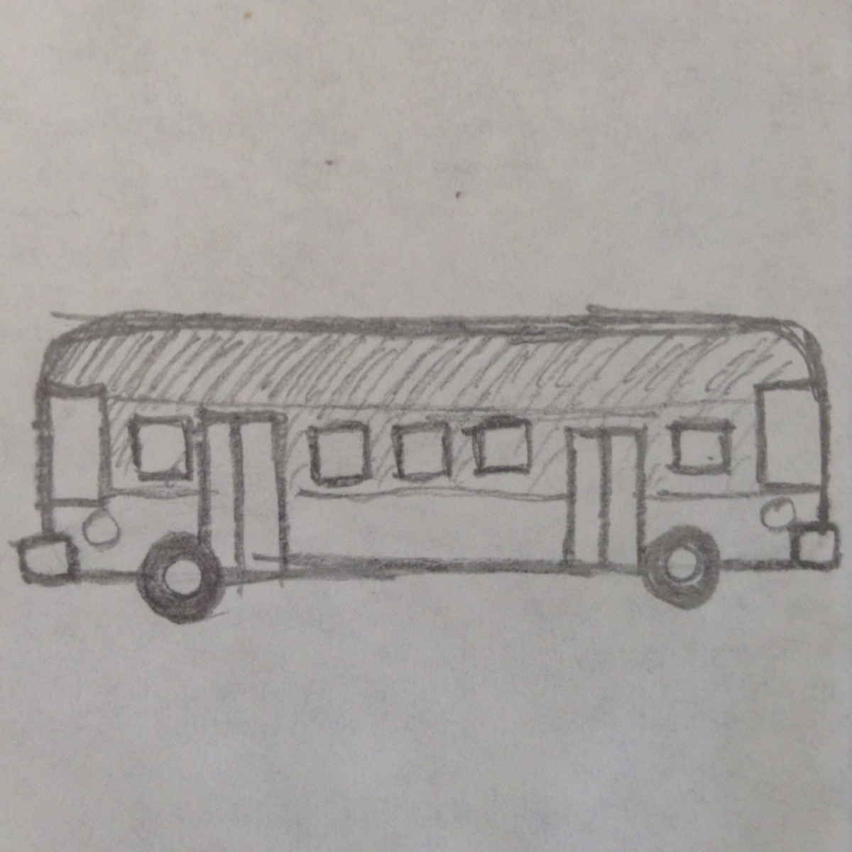 How to draw a city bus.