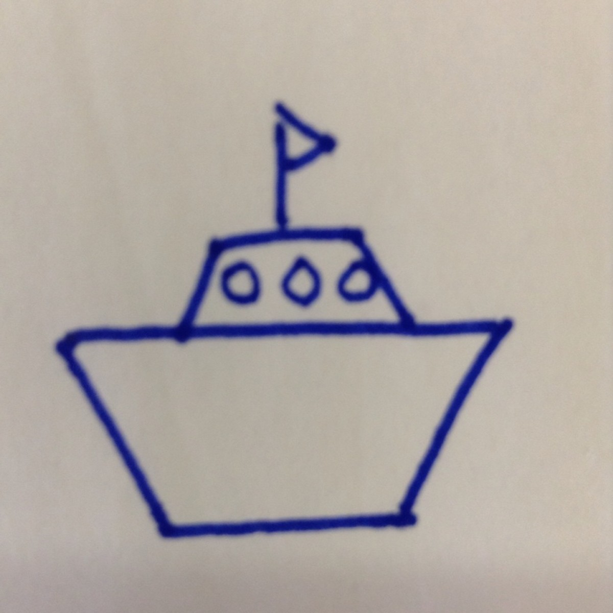 How to draw a boat using shapes.