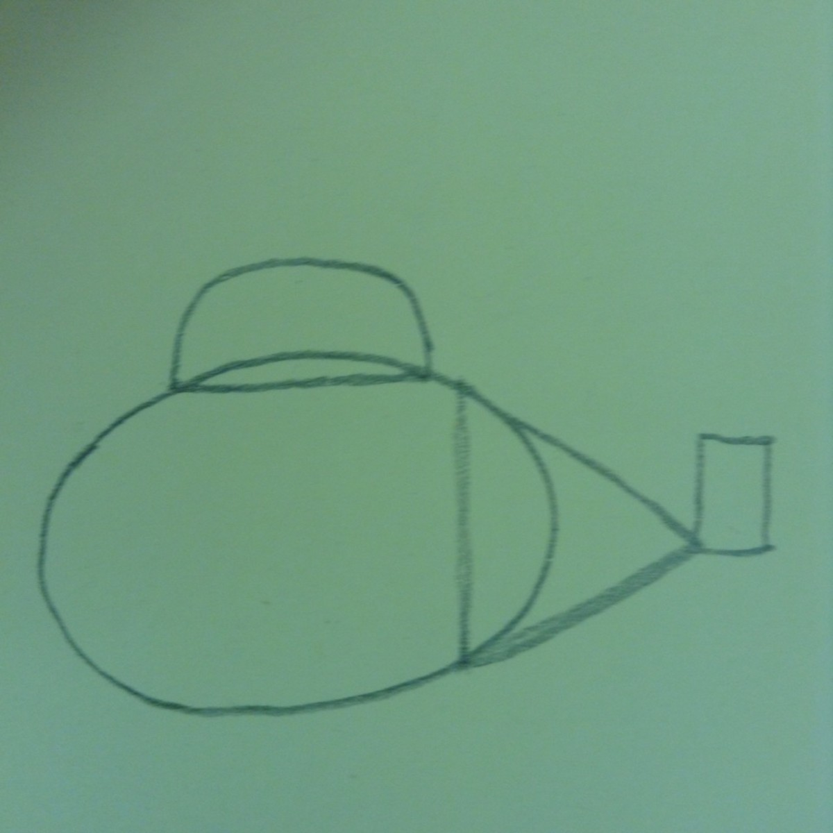 Step 4. Draw a semi-circle overlapping the top of the oval.