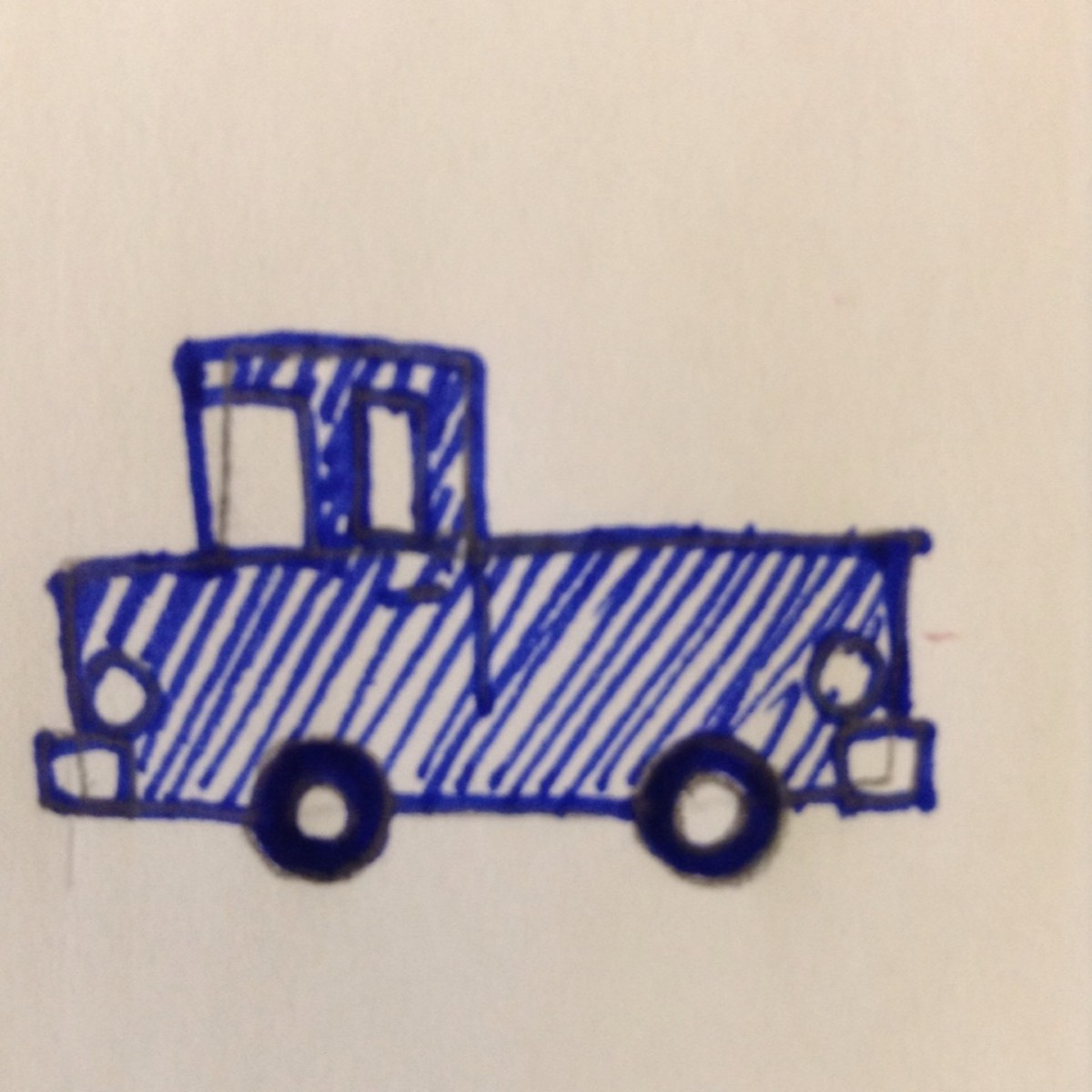 How to draw a pickup truck using just shapes.
