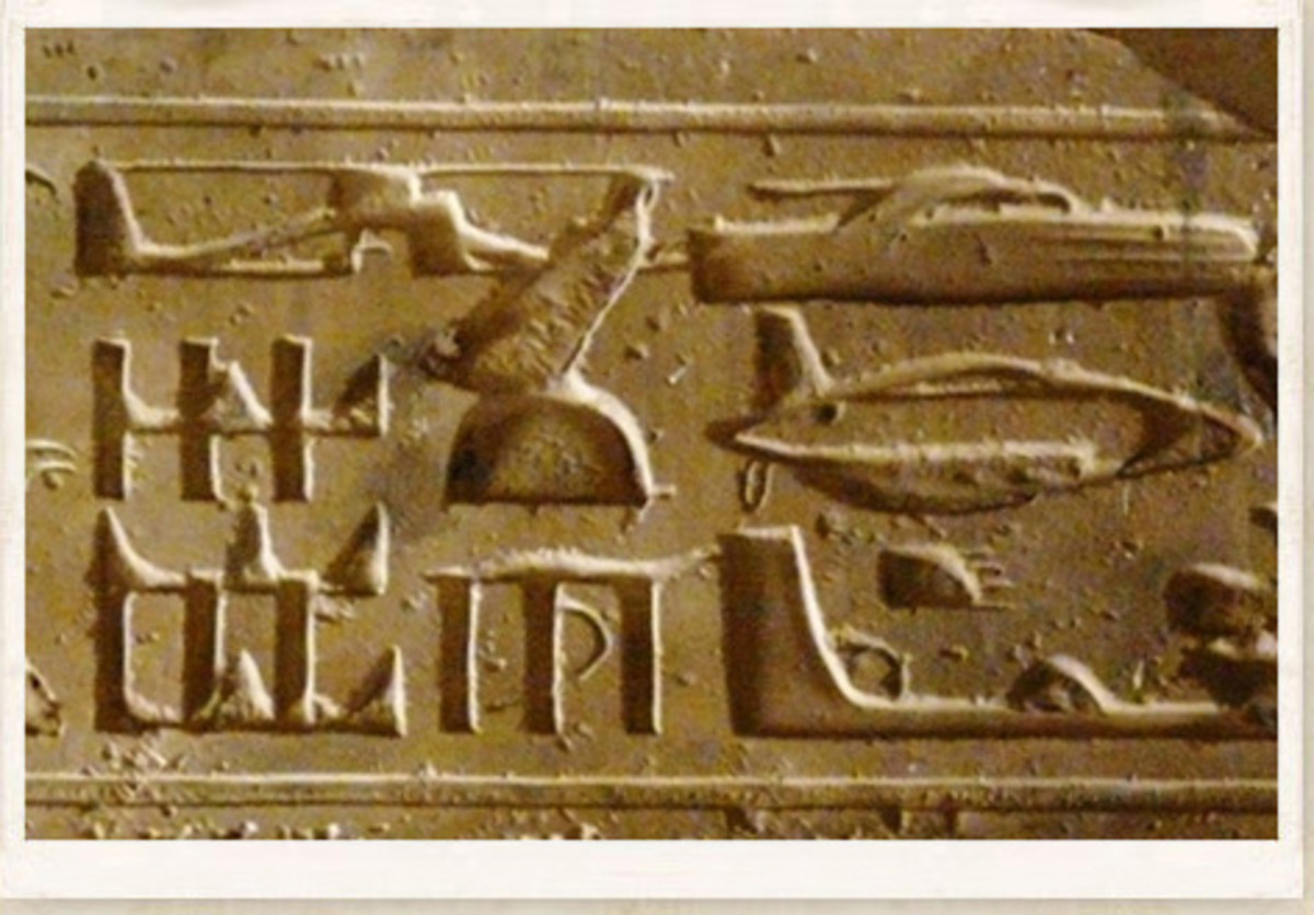 On a temple wall in Abydos, Egypt hieroglyphics of helicopters, aircraft and other technology shows that our ancient 'gods' were just beings with superior technology.
