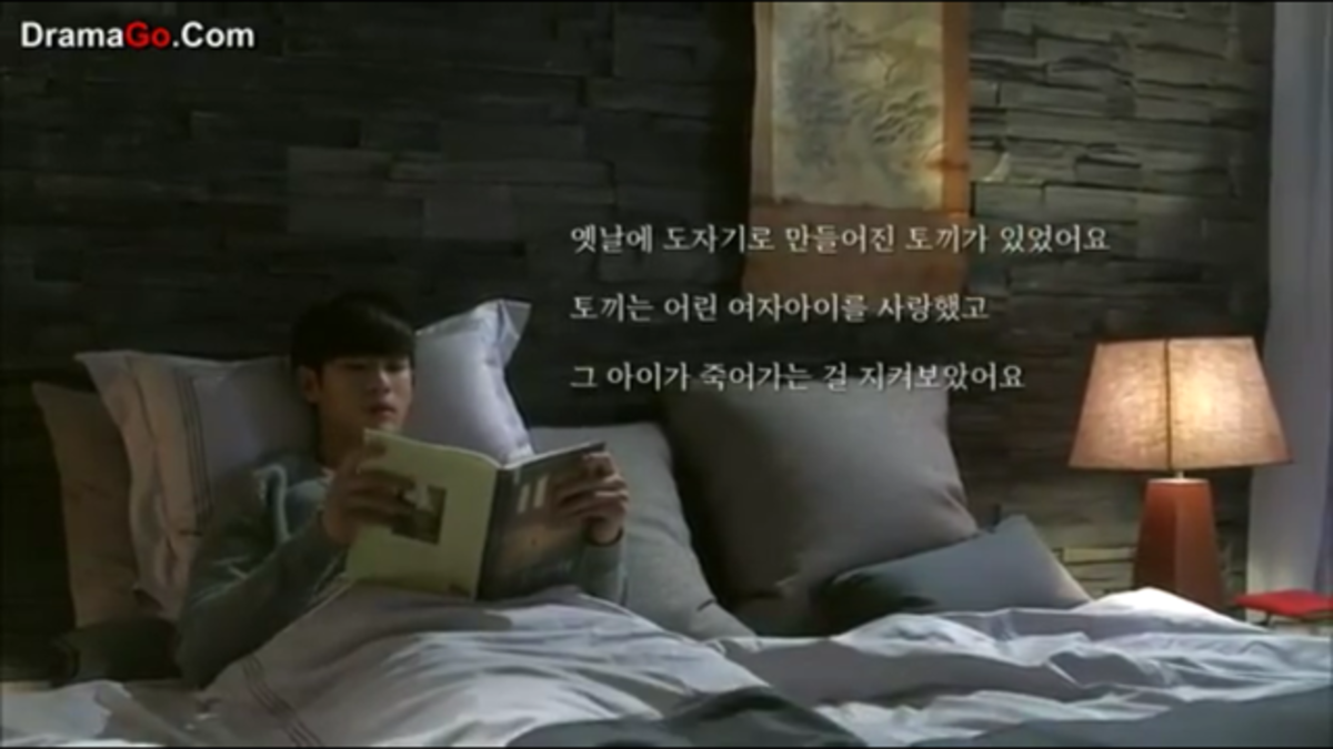 Do Min Joon reading the book, The Miraculous Journey of Edward Tulane by Kate DiCamillo