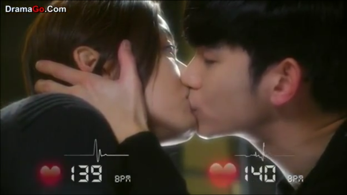 Do Min Joon and Cheon Song Yi's first real kiss