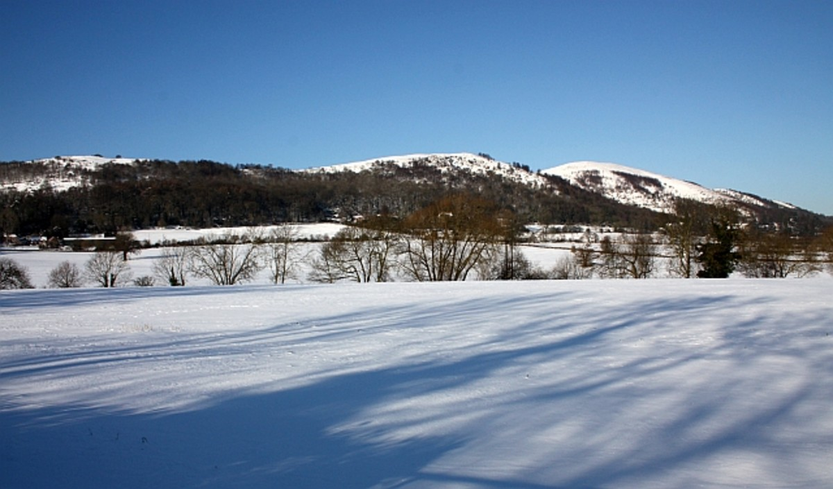 Little Malvern in the snow, Worcestershire