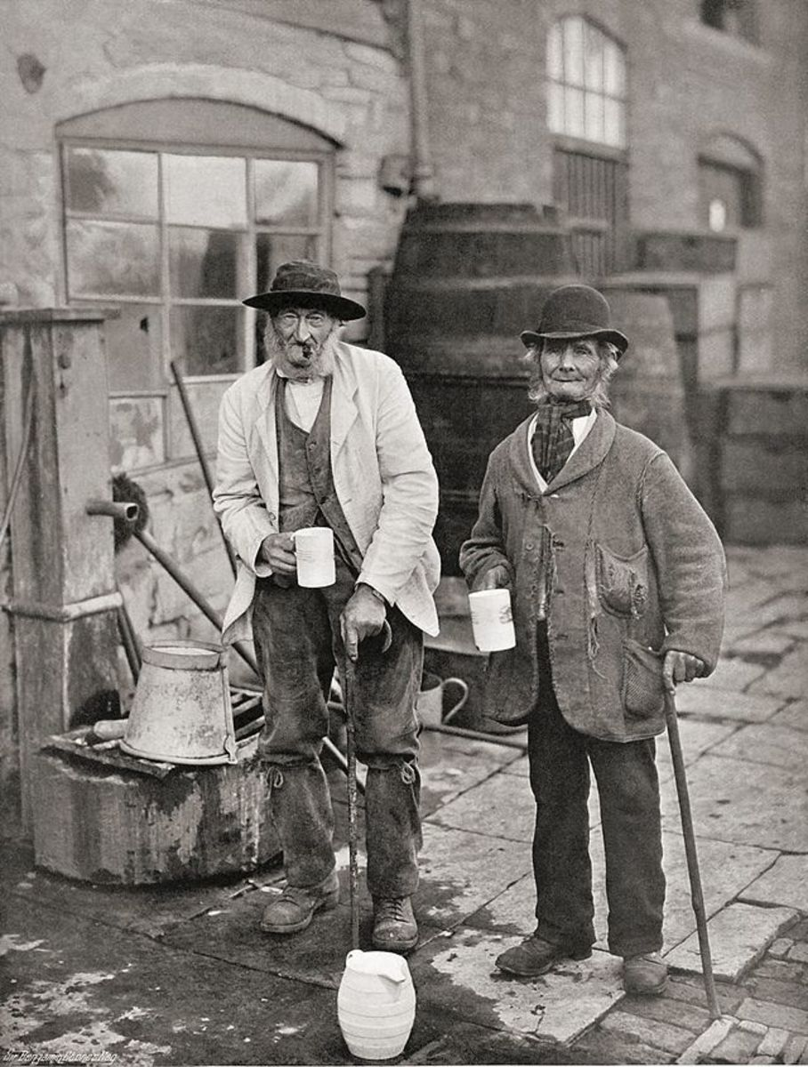 Sippers & Toppers, circa 1900, at Bidford Mop, taken by Sir Benjamin Stone