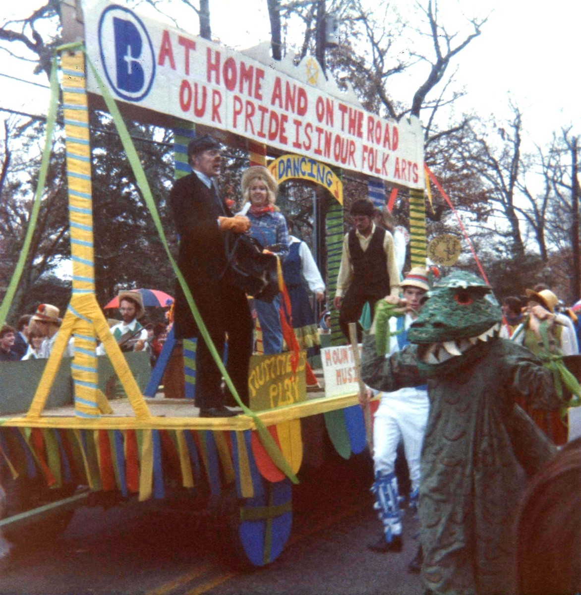 Homecoming parade on Chestnut Street (Highway 25), which passes through the town and the campus, is one of many student activities at Berea.