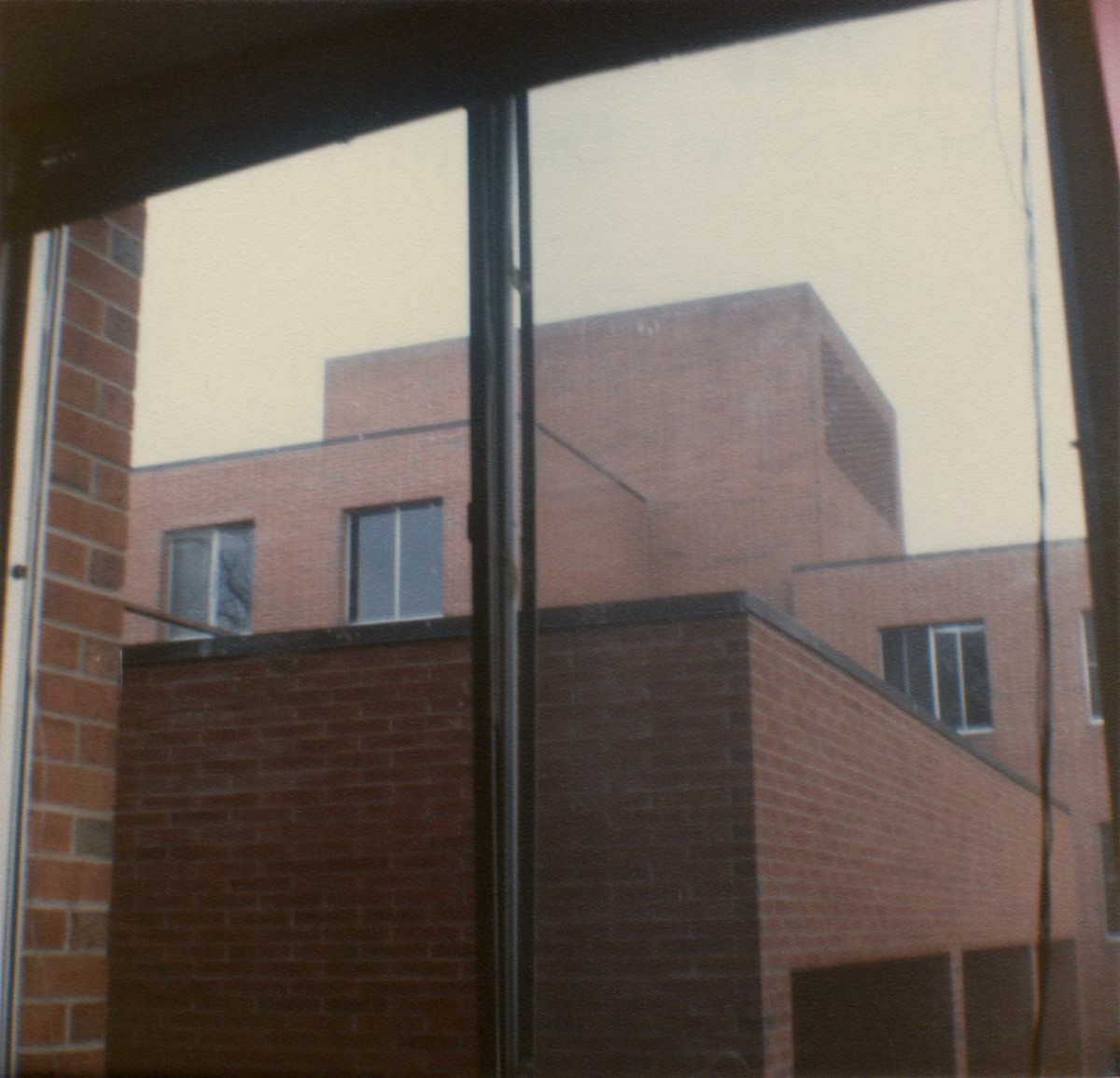 The view outside my dorm window for three years: the brutalistically-modern Danforth dormitory is unlovely but offers nice amenities such a single occupancy rooms and air-conditioning. It is structurally identical to girls' dormitory Kettering Hall.