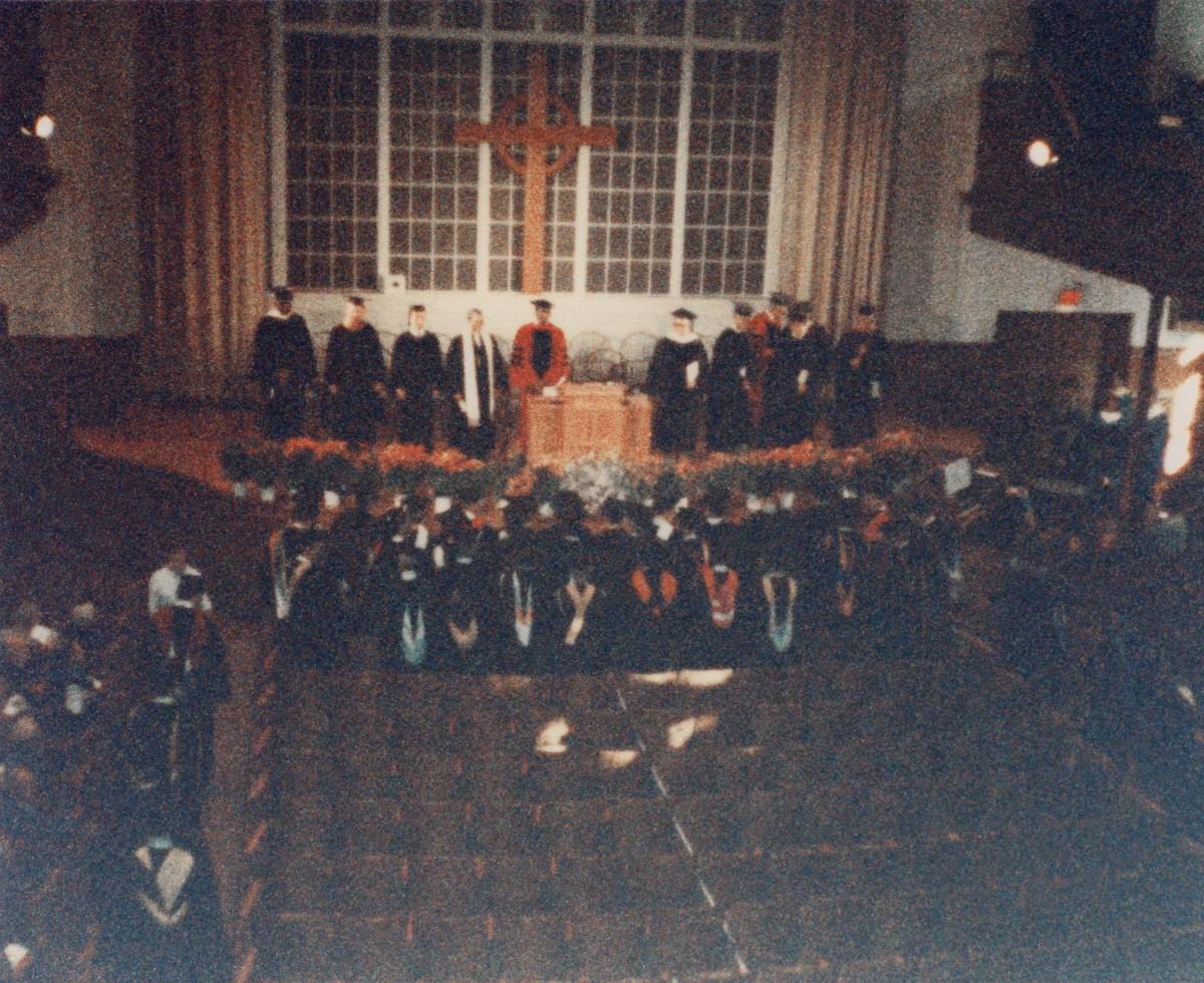 Ceremony in progress at Phelps Stokes Chapel.