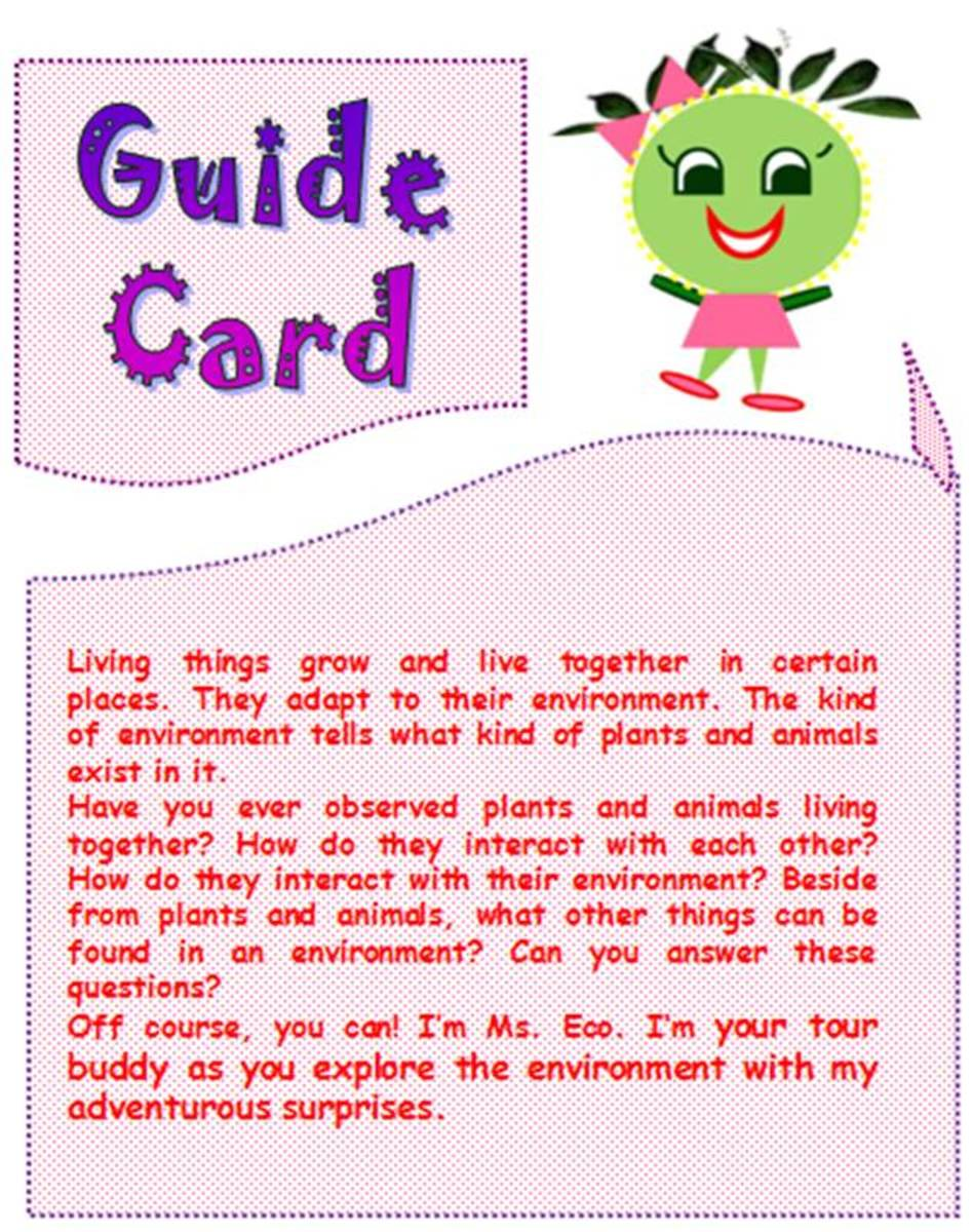 Ms. Eco is the Guide Card's icon in this SIM.