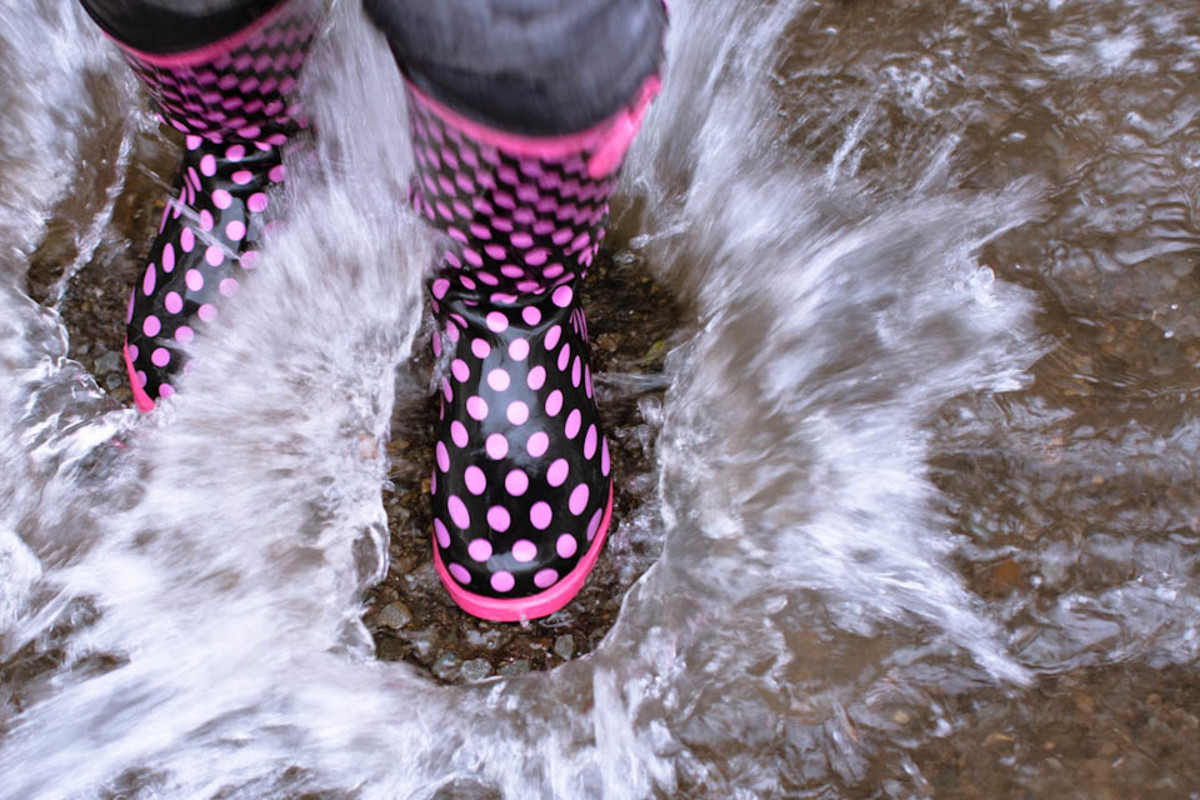 Splashing in puddles is one of the great pleasures of life.