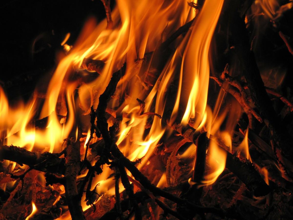 Bone fire -  Bon fire.  Cool.