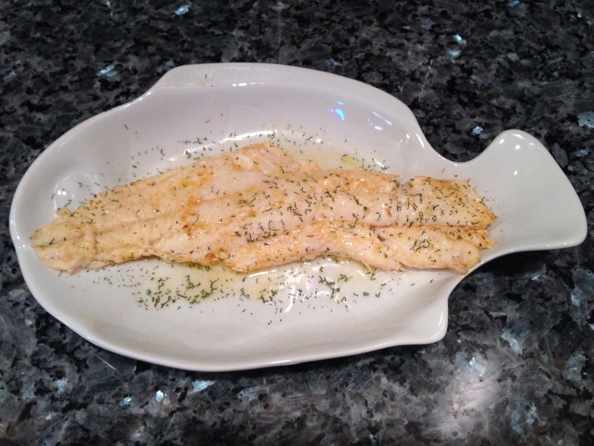 Baked White Fish (Cod)
