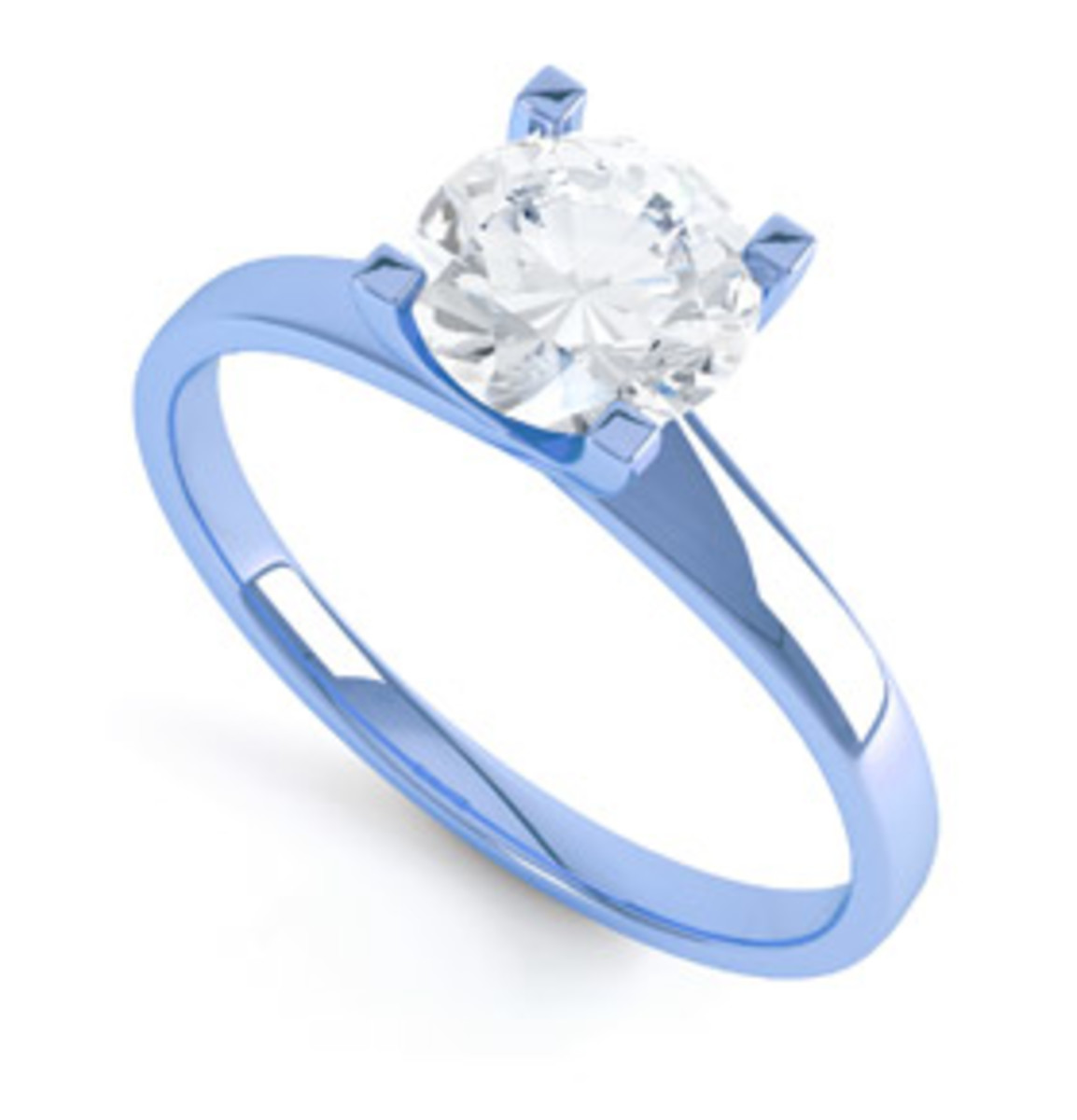 Blue Gold engagement ring